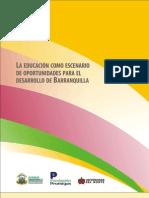 La Educación como escenario de oportunidades para el desarrollo de Barranquilla