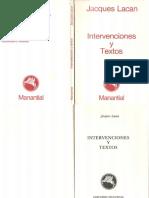 Intervenciones y Textos 1