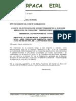 Elevacion de Cuestionamientos a la OSCE