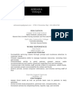 project 3 resume