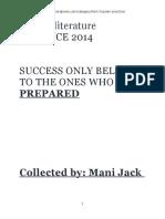 Form 5 Literature PRACTICE 2014