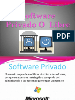 Software Privado O Libre