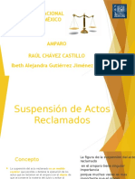 Suspension Del Acto Reclamado
