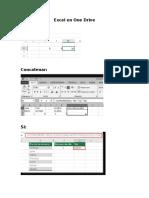 Actividad Comparativa Excel OneDrive