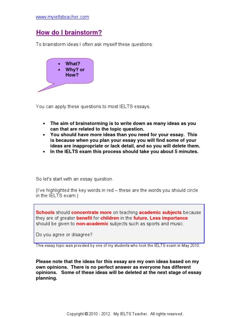 planning ielts essay