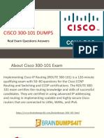 Cisco 300-101 Exam Dumps  & 300-101 Questions Answers