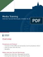Howard GENERAL Media Training