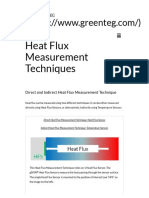 Direct and Indirect Heat Flux Measurement Techniques
