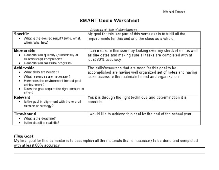 Smart goals worksheet 1537569245v1 ibookread PDF
