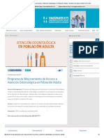 Programa de Mejoramiento de Acceso a Atención Odontológica en Población Adulta - Ministerio de Salud