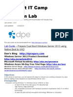 Dual Boot Windows Server 2012 Using Downloaded VHD Step by Step Guide IT Camp Hands on Lab