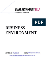 Business Environment Sample Assignment by Expert Writers