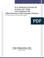 Recruitment & Selection Process at Tata Teleservices Ltd. ( Tata DOCOMO)