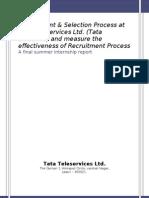 Recruitment & Selection Process at Tata Teleservices Ltd. ( Tata DOCOMO)