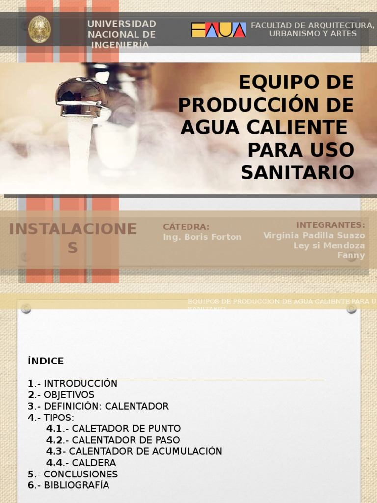 Equipo de Producción de Agua Caliente
