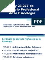 Ley 23.277 y reglamentación delEjercicio Profesional de la Psicología (ESQUEMA)