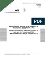 Interfaz de Línea Para El Acceso a La Fibra de Abonado Con Tecnología GPON