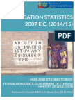 Education Statistics Annual Abstract 2007 E.C.