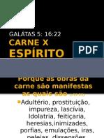 CARNE X ESPÍRITO Gálatas 5:16-22