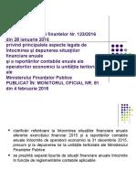 Ordinul Ministrului Finantelor Nr123