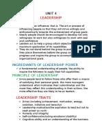 Ppm UNIT 4 Leadership