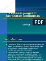 Evaluasi Program Kesmas