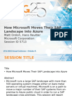 5713 How Microsoft Moves Their SAP Landscape Into Azure