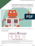¿Qué es un robot? Conociendo los sensores y actuadores | DIWO
