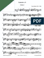 BENDA Concerto in a Vn Strings VN I