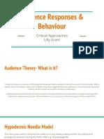 audience responses   behaviour
