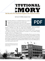Institutional Memory - Prologue - Summer 2010