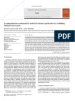 A Comprehensive Mathematical Model for Biomass Gasification in a Bubbling