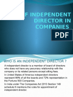 Role of Independent Directors in Companies