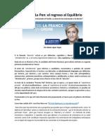 López Tapia, Alexis; Marine Le Pen - El Regreso Al Equilibrio