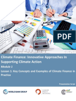 World Bank Climate Finance - Module 1a