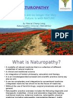 Naturopathy ; chemicals are no longer the way - a lecture by Pascal Chang Leng