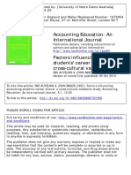 1997 Factors Influencing Accounting Students' Career Choice a Cross-cultural Validation Study