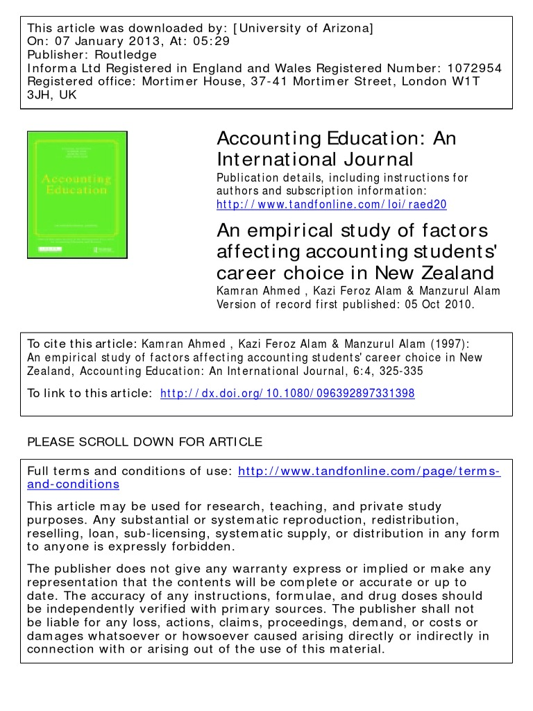 is accounting a good career choice 2013
