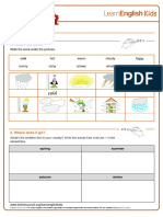 Worksheets Weather 1