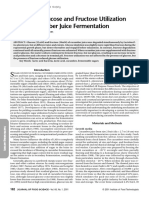 Differential Glucose and Fructose Utilization During Cucumber Juice Fermentation