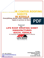 Color coated roofing sheets in Kerala - Best color available for residential and commercial roofs