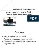 Cracking We p and Wpa Wireless Networks