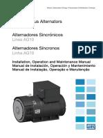 WEG Alternadores Sincronos Linha Ag10 12638144 Manual Portugues Br