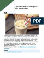 6 Batidos de Proteínas Caseros Para Aumentar Masa Muscular
