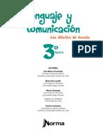 Lenguaje y Comunicación 3º Básico-Guía Didáctica Del Docente