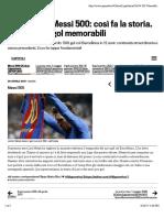 Barcellona, Messi 500