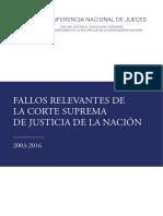 Fallos Relevantes de la Coste Suprema de la Nación Argentina
