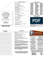 Calvary Bowling Green 7-18-2010 Bulletin