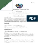 Information for Participants -1st Johor International Scout Festival 2016
