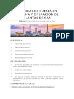Contenido Tematico, Técnicas de Puesta en Marcha y Operación de Plantas de Gas
